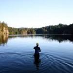 beautiful lake swim
