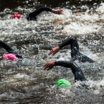 swimming at triathlon